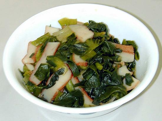 青梗菜とさつま揚げのさっと煮