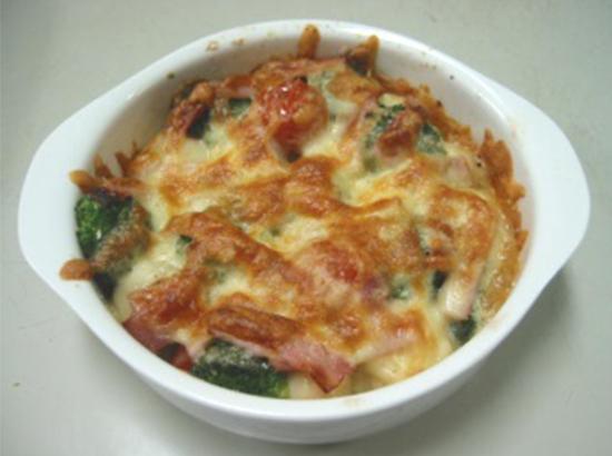 さといも煮と野菜のチーズ焼き