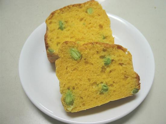 枝豆とかぼちゃのパウンドケーキ