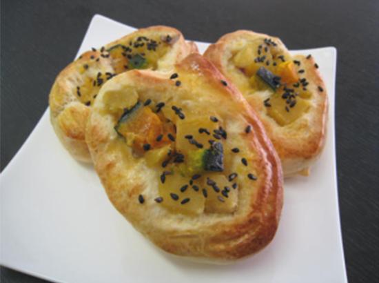 さつま芋とかぼちゃのパン