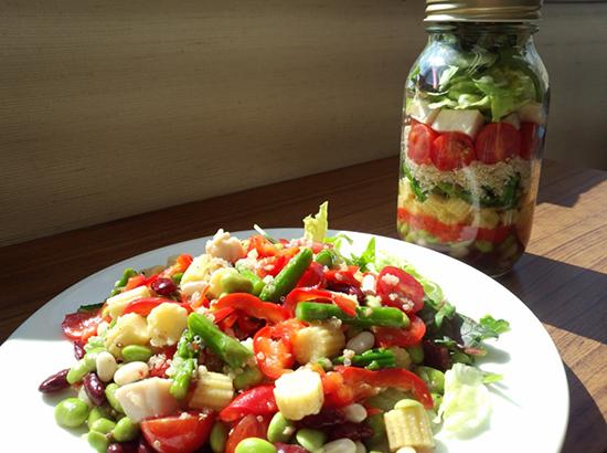 野菜たっぷりジャーサラダ (メイソンジャーサラダ)